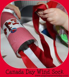Fun and easy craft for young children and toddlers to make for Canada Day to decorate for a party or BBQ. Creative Arts And Crafts, Creative Play, Easy Crafts For Kids, Toddler Crafts, Toddler Play, Outdoor Activities For Toddlers, Toddler Learning Activities, Rainy Day Activities, Summer Activities