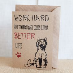 Funny card for Cat's lovers with Envelope
