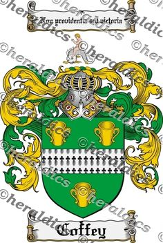 Coffey Coat of Arms Coffey Family Crest Instant Download