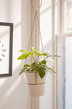 Meredith Metal Planter + Hanger Set | Urban Outfitters