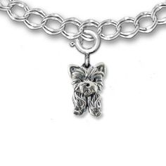 Amazon.com: Sterling Silver Yorkie Puppy Charm for Charm Bracelet by the Magic Zoo: Merry Rosenfield: Jewelry