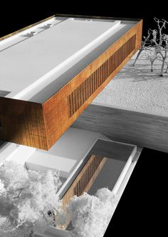 Emerging Practices in India: SPASM Design Architects,Conceptual model: Ahmedabad House. Image Courtesy of SPASM