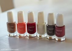 Blogger Marjukka's (Fab forty something) favorite shade is the grey one. Which one is yours? #trend #nailpolish #lumene