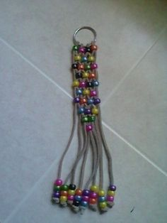 Multi-Colored Pony Bead Key Chain