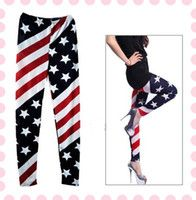 Lady American Flag Print Skinny Tights Sexy Leggings Pants Trousers Fashion