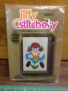 Jiffy Stitchery Kit  Suzie Q  Vintage by KoopsKountryKalico, $2.00