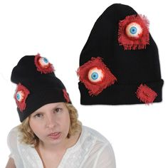 Beistle Eyeballs Knit Cap (12ct)