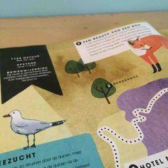 Painted maps for Dutch Libelle '250 dagjes uit' by Valesca van Waveren - Bergen