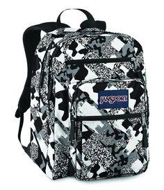 Jansport Big Student Backpack Black   White Camo White Jansport Backpack 9c0f384c97bad