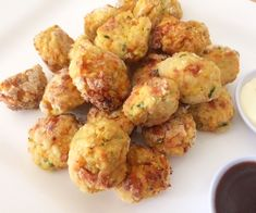 Chicken and Bacon Balls with Vegetables - would try with whole wheat flour or healthier alternative