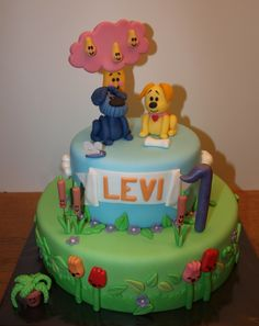 """My cake of """"Woezel en Pip"""", made by Wendy Franssen"""