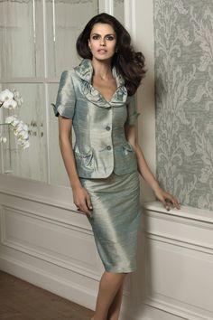 Elgance Metallic Raw Silk Suit 329