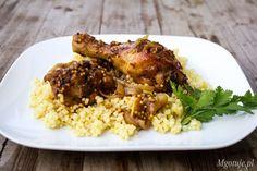 Pyszny przepis na udka z kurczaka w sosie miodowo - musztardowym. Miód i musztarda stanowi doskonałe połączenie smakowe, jedno z moich ulubionych. Musicie