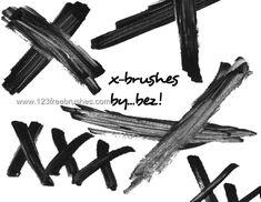 Paint Strokes X Marks - Download  Photoshop brush https://www.123freebrushes.com/paint-strokes-x-marks/ , Published in #GrungeSplatter. More Free Grunge & Splatter Brushes, http://www.123freebrushes.com/free-brushes/grunge-splatter/   #123freebrushes