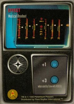 Medical Readout Card From Star Trek The Original Series Customizable Card Game (CCG) Rare Effect Card Fleer/SkyBox