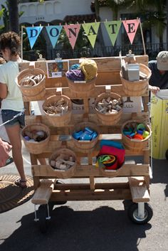 Love this idea - set up as collection station for junk modelling - buckets can be pre-assigned - OR student can have a special request bucket if needing specific items for a project.
