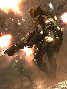 Galaxy Saga - Hunter (regular) by jameszapata on DeviantArt