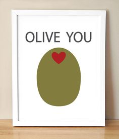 Valentine's Day: Olive You Card