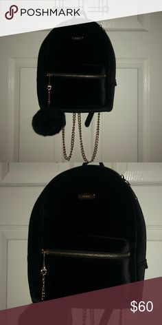 3f94aed1a1e Aldo backpack Aldo black backpack with chain straps Aldo Bags Backpacks