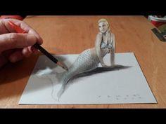 Anamorphic illusion, Drawing Levitating 3D Crystal Skull, Time Lapse - YouTube