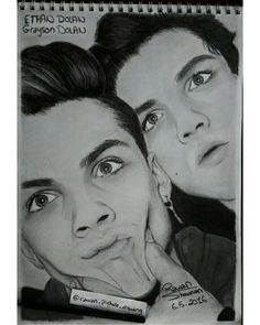 Dolan twins Ethan and Grayson drawing Graphite drawing Amaizing drawing /Follow my IG for more @rawandrawings
