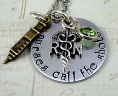 Hey, I found this really awesome Etsy listing at https://www.etsy.com/listing/169397830/nurses-call-the-shots-hand-stamped