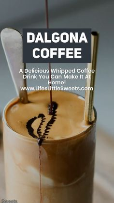 Dalgona Coffee - Whipped Coffee Drink, Make It At Home! Dalgona Coffee (Dalgona Whipped Coffee) is a whipped coffee drink recipe consisting of a top layer of equal parts instant coffee, water and suga Coffee Drink Recipes, Coffee Drinks, Iced Coffee, Coffee Shops, Starbucks Coffee, Coffee Lovers, Coffee Art, Coffee Mugs, Coffee Maker