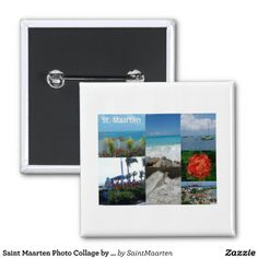 Customized Saint Maarten Photo Collage Button by Khoncepts Sold in PA! thank you :-)