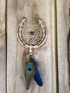 Handmade Horseshoe Dream Catchers with your by RusticDreamers