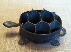 Vintage Turtle Flower Frog Metal TURTLE from JAPAN