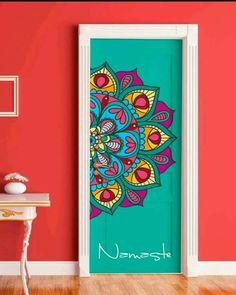 DIY doors with super cool mandalas Deco Cool, Wall Murals, Wall Art, Deco Boheme, Painted Doors, Mandala Art, Painted Furniture, Pipe Furniture, Furniture Vintage