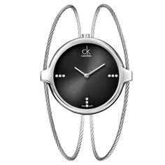 The Calvin Klein Women's 'Agile' Stainless Steel Swiss Quartz Watch is a gorgeous wristwatch that features a unique double strap and black dial. Made in Switzerland from quality materials, this is a classy and defined timepiece for the modern woman.