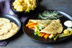 Vegan crepe di ceci con tofu Tofu, Vegan Crepes, Pizza