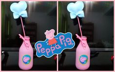 Enfeite de mesa para festa de aniversário - Tema Peppa Pig