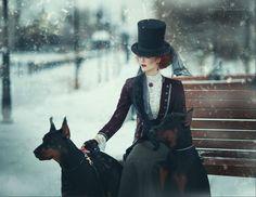 Grell Sutcliff's Crimson Reverie, steampunktendencies:     Model: Catherine Ryabenko...