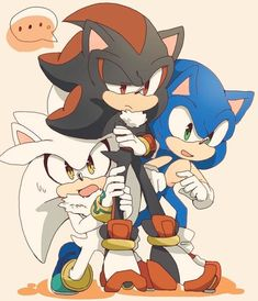 Sonic Shadow y Silver Shadow The Hedgehog, Sonic The Hedgehog, Hedgehog Art, Silver The Hedgehog, Sonic Adventure, Shadow And Amy, Game Sonic, Sonic Funny, Sonic Franchise