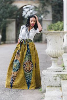 Image of New Brown Mali Skirt