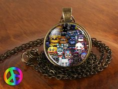5 Five Nights at Freddy's FNaF Game Gaming Fashion Necklace Pendant Jewelry Gift