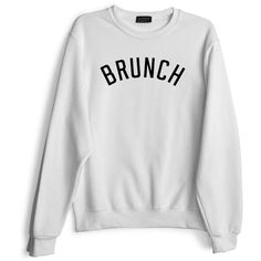 Private Party Brunch Sweatshirt ($79) ❤ liked on Polyvore featuring tops, hoodies, sweatshirts, white, going out tops, night out tops, long sleeve sweatshirt, white sweatshirt and sweat tops
