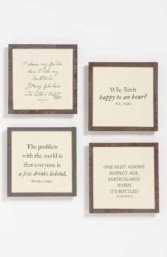 Ben's Garden 'Why Limit Happy' Coaster Set (Nordstrom Exclusive) available at #Nordstrom