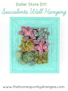 Picture Frame on Box Planter would be Cute for Succulents