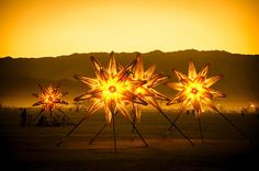 Burning Man Photo - These stars were laid out in the desert to form Orion's Belt. from #treyratcliff at www.StuckInCustoms.com  - all images Creative Commons Noncommercial.
