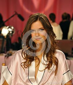 NEW YORK, NY - NOVEMBER 13:  Model Kasia Struss  prepare at the 2013 Victoria's Secret Fashion Show by Anton Oparin, via Dreamstime