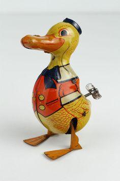Vintage J Chein Walking Duck Wind Up Tin Toy 5 Tall | eBay