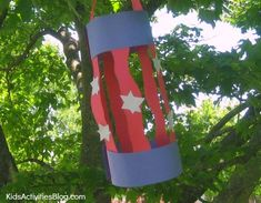 fourth of july crafts | 4th of July craft: Make this patriotic craft for kids {easy lantern ...