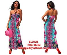 ELD128 - PRICE: R349  AVAILABLE SIZES: S/M (Size 8-10 / 32-34) To order, email: sales@sultryfashions.co.za Dresses For Sale, Summer Dresses, Strapless Dress, Fashion, Strapless Gown, Moda, Sundresses, La Mode, Fasion