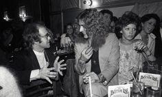 | Elton John and Robert Plant at Bottom Line nightclub, NYC 1975