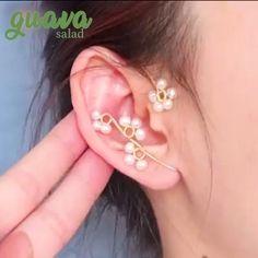 Ear Jewelry, Cute Jewelry, Beaded Jewelry, Jewelry Making, Jewlery, Handmade Wire Jewelry, Wire Wrapped Jewelry, Earrings Handmade, Earring Crafts