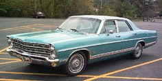 1967 Ford Galaxy - my first car was a 1968 with Kreger rims