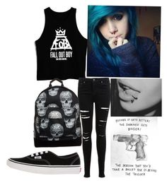"""""""Fall out boy :P"""" by nirvana4lif3 ❤ liked on Polyvore featuring mode, Mi-Pac, Vans et Miss Selfridge"""
